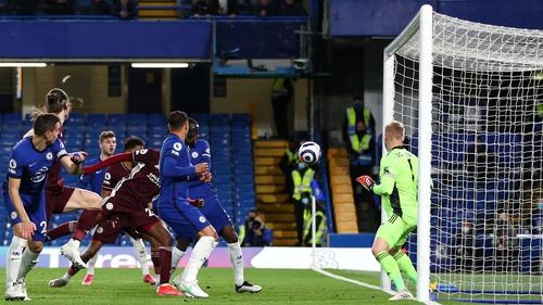 A masked Antonio Rudiger opens the scoring at Stamford Bridge