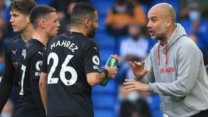 Pep Guardiola watched his side throw away a two-goal lead against Brighton