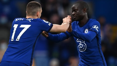 N'Golo Kante was replaced by Mateo Kovacic after 32 minutes