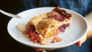 Cherry and apricot slab pie