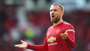 Shaw was in action on Tuesday as supporters returned to Old Trafford for the first time in over a year