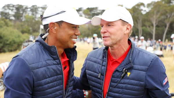 Woods and Stricker at the 2019 Presidents Cup