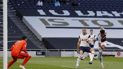 Ollie Watkins with Villa's winning goal