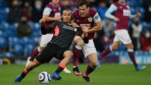 Thiago under pressure from Jack Cork