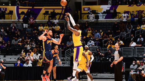 James registered 22 points, 11 rebounds and 10 assists