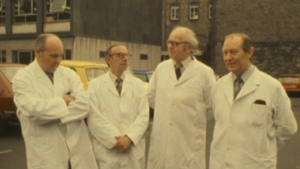 Some of the team of Irish scientists involved in the development of clofazimine. Photo: RTÉ