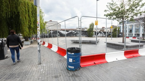The plaza at Portobello has been closed over recent weekends