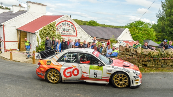 Garry Jennings competing at the 2019 Donegal International Rally