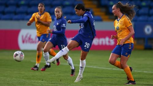 Sam Kerr scores Chelsea's second goal