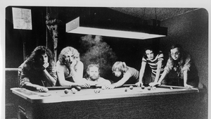 "Steely Dan in 1972: (L-R) Jim Hodder, David Palmer, Denny Dias, Jeff ""Skunk"" Baxter, Donald Fagen and Walter Becker. (Pic: Michael Ochs Archives/Getty Images)"