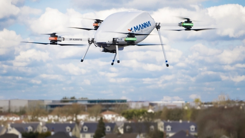 Manna Aero was the first company to apply for a LUC after their recent trials of drone delivery services in rural Ireland