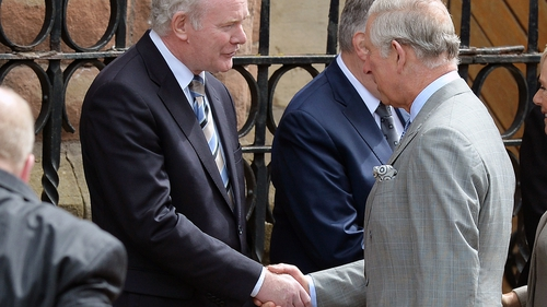 In May 2015, Martin McGuinness met and publicly shook hands with Prince Charles during a visit to a Catholic church in Belfast