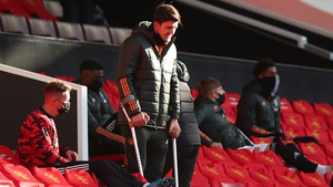Harry Maguire suffered an ankle ligament injury two weeks ago