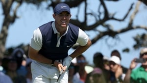 Rory McIlroy is eight off the leaders