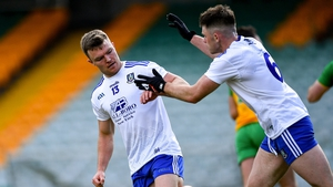 Conor McCarthy celebrates completing his hat-trick against Donegal