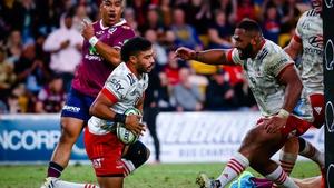 Richie Mo'unga scored 31 points against Queensland Reds