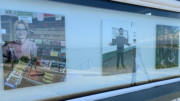 The paintings are currently on display at The Strand bar and restaurant in Cahore