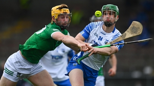 Michael Kiely in action against Tom Morrisey of Limerick