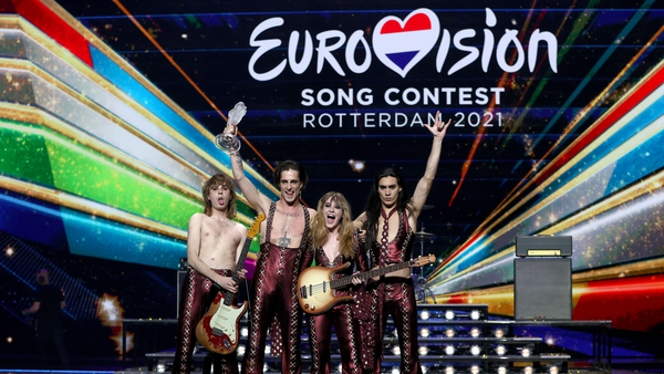 Italian act Maneskin won the 2021 Eurovision in Rotterdam