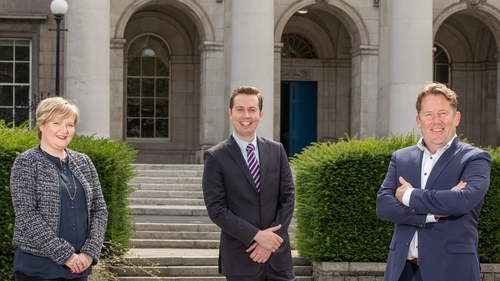 Sinead Byrne, COO of Initiative Ireland, Padraig W Rushe, CEO of Initiative Ireland and Darragh O'Brien, Minister for Housing, Local Government and Heritage