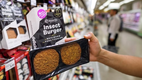 Coming soon to your local Aldi or Tesco: insect burgers based on protein-rich mealworm at a supermarket in Geneva. Photo: Fabrice CoffriniAFP via Getty Images