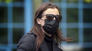 Katie Jarvis leaving Basildon court