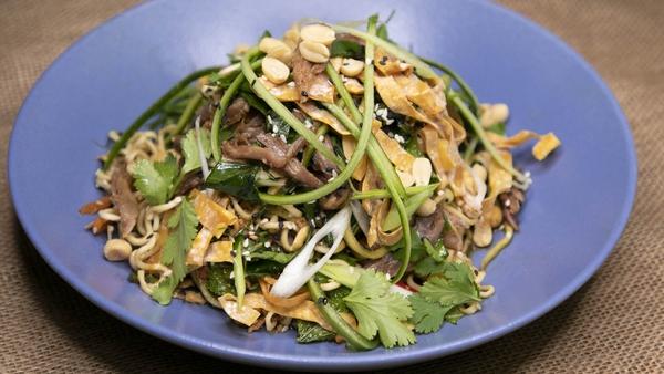 Wade Murphy's confit duck & noodle salad.