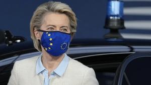 European Commission chief Ursula von der Leyen arriving at the summit