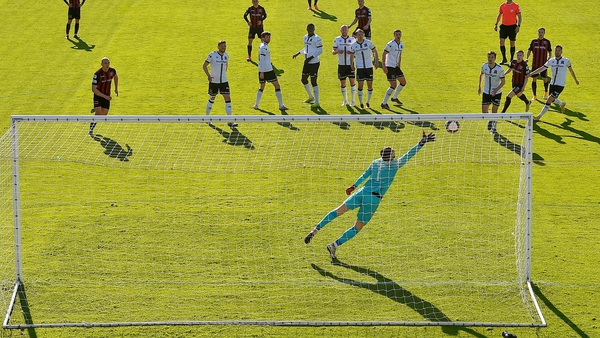 Tyreke Wilson scores Bohs' second goal at Dalymount Park