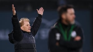 Sligo Rovers manager Liam Buckley watches on as his side secured victory