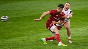 Conor Murray tackled by Ulster counterpart Alby Mathewson on 7 May