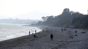 Warning notices have been put in place at Killiney Beach (above) and White Rock Beach (Image: Rolling News)