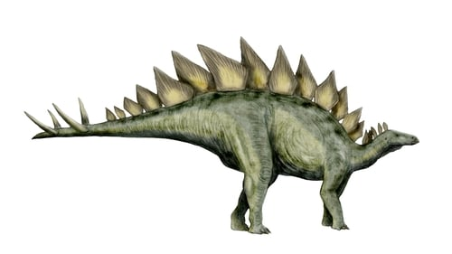 The statue was a lifelike rendition of a stegosaurus (File image)