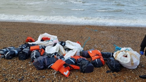The drugs were wrapped in waterproof bags and attached to life jackets