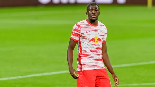 Ibrahima Konate was an unused substitute in both legs of Leipzig's Champions League last-16 loss to Liverpool