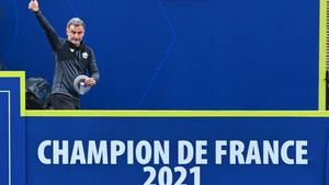 Christophe Galtier celebrates after Lille won Ligue 1