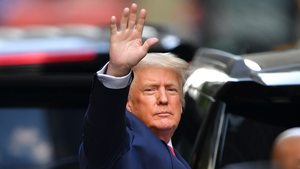 Donald Trump pictured on 18 May leaving Trump Tower in New York