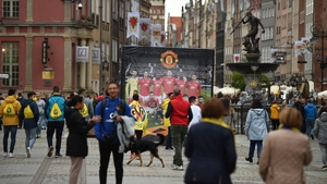 Man United and Villareal fans in Gdansk ahead of the Europa League final