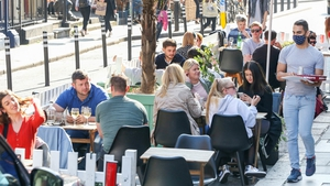 Tables will have to be at least one metre apart both outdoors and indoors under the refreshed rules (File pic: RollingNews.ie)