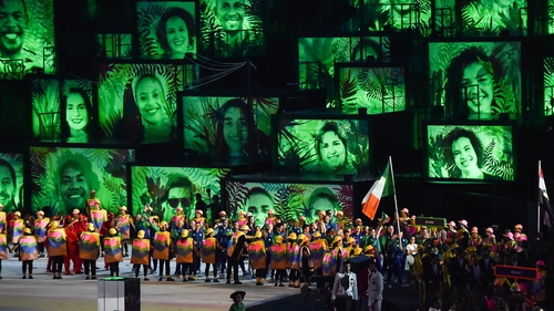 Team Ireland at the opening ceremony of the Rio Games in 2016