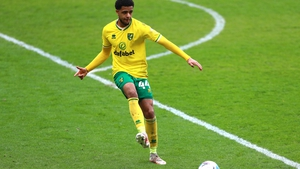 Andrew Omobamidele in action for Norwich