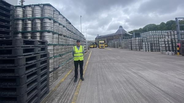 Heineken Ireland head brewer PJ Tierney in a busy Lady's Well brewery yard