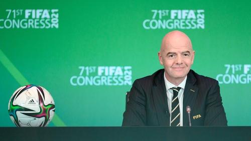 Gianni Infantino at FIFA's virtual congress last week