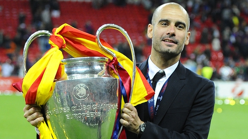 Pep Guardiola last won the Champions League with Barcelona in 2011