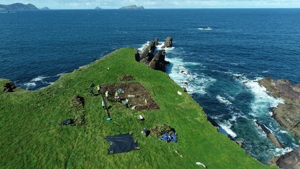 A two-week excavation and survey of the headland's fort is under way