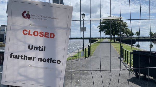 Barriers have been erected at the popular spot in Galway