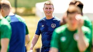 Stephen Kenny during Ireland training in Girona