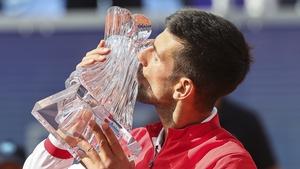Novak Djokovic claimed his 83rd ranking title