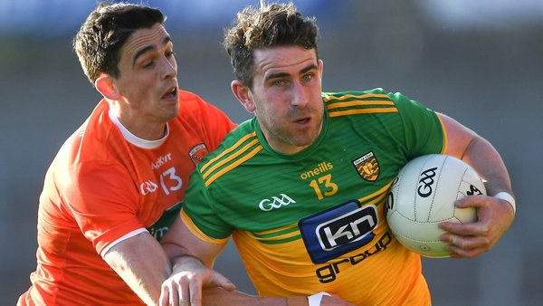 Paddy McBrearty (right) kicked eight points