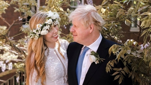 Boris Johnson and Carrie Symonds were married by Father Daniel Humphreys (Downing St handout image)